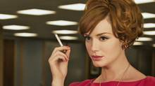 Christina Hendricks as Joan Holloway-Harris in Mad Men.