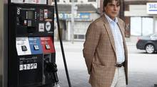 """Author Jeff Rubin by a gas station in downtown Toronto. His book is called, """"Why Your World Is About toGet a Whole Lot Smaller"""" and is about the fact that Rubin believes oil prices are going to surge again and change the way we live - forcing us to produce, consume, live and work much closer to home. (Charla Jones/Charla Jones/Globe and Mail)"""