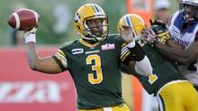 Edmonton Eskimos quarterback Steven Jyles gets the start Saturday against the B.C. Lions. (DAN RIEDLHUBER/REUTERS)