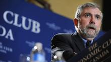 Princeton economist and New York Times columnist Paul Krugman speaks Wednesday at the Economic Club of Canada in Toronto. (Fred Lum/Fred Lum/The Globe and Mail)