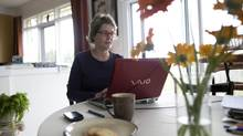 HR consultant Andrea Zanetti left her job to work from her home in Caledon, Ont. (Kevin Van Paassen/The Globe and Mail)