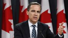 Bank of Canada Governor Mark Carney speaks during a news conference upon the release of the Monetary Policy Report in Ottawa January 18, 2012. (CHRIS WATTIE/Reuters/CHRIS WATTIE/Reuters)