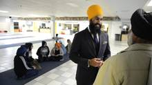 NDP MPP Jagmeet Singh says he has tried to tread carefully when mixing politics and religion: 'I don't want to overstep that boundary where I feel like I'm there just as a politician. I want to feel like I'm there as a member of the community.' (Fred Lum/The Globe and Mail)