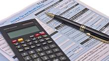 Canadian tax forms. (John Tomaselli/iStockphoto)