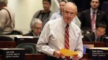 Toronto City Councillor Doug Holyday spoke during the budget debate at City Hall in Toronto on January 17, 2012. ( (Deborah Baic/The Globe and Mail/Deborah Baic/The Globe and Mail)