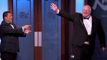 Mayor Rob Ford on the Jimmy Kimmel show live on Sunday night at March 2. youtube