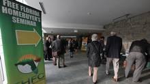 Potential Florida real estate buyers attend a free Florida seminar in Toronto. (Deborah Baic/The Globe and Mail)