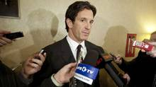 NHL vice president of hockey and business development Brendan Shanahan speaks to reporters during the NHL General Managers' annual fall meeting in Toronto, Ont. Tuesday, November 9, 2010. (Darren Calabrese)