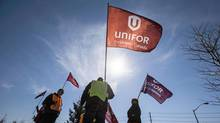Unifor, formed on Labour Day weekend 2013, has spent its first year working to bring traditionally non-unionized jobs into the fold. (MARK BLINCH/REUTERS)