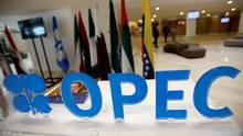 OPEC logo is pictured ahead of an informal meeting between members of the Organization of the Petroleum Exporting Countries (OPEC) in Algiers, Algeria September 28, 2016. (RAMZI BOUDINA/REUTERS)