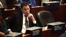 Toronto City Councillor Josh Colle says city staff failed to consult residents properly regarding the Cornerstone shelter. His colleague Gord Perks, however, says the failure rests with Mr. Colle, not with the public service. (Deborah Baic/Deborah Baic/The Globe and Mail)