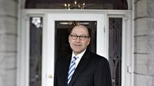 U.S. Ambassador to Canada David Jacobson poses for a photo in his new home in Ottawa shortly after his arrival in 2009. (Brigitte Bouvier For The Globe and Mail)