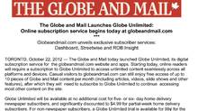 Detail of the Globe Unlimited press release