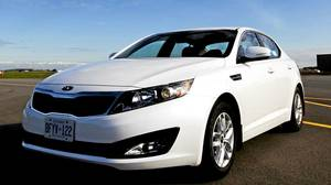 Kia Optima won Best New Family Car (over $31,000) in the Automobile Journalists Association of Canada's TestFest 2012 Canadian Car of the Year Awards in Niagara-on-the-Lake on Friday, October 28, 2011.