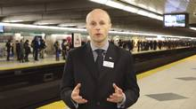 TTC CEO Andy Byford delivers a video apology to system users on March 19, 2013, for serious service problems on the subway the previous night. (TTC/Youtube.com)