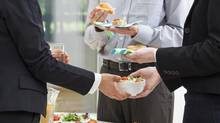 It's important to remember just how significant a role food and exercise play in determining workplace happiness and productivity. Here are some simple recommendations to improve productivity through nutrition and exercise, with little to no budget (KatarzynaBialasiewicz/Getty Images/iStockphoto)