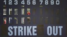 The scoreboard at Nat Bailey Stadium harks back to an earlier time, a visual representation of baseball's romantic past. In an electronic age, the scoreboard at this ballpark – home to the single-A Vancouver Canadians, an affiliate of the Toronto Blue Jays – is manually operated, just as in the old days. (John Lehmann/The Globe and Mail)