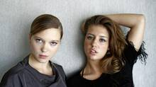 The stars of Blue is the Warmest Colour, Lea Seydoux, left, and Adele Exarchopoulos, were critical of the on-set conditions imposed by director Abdellatif Kechiche. (Fernando Morales/The Globe and Mail)