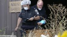 Police execute a search warrant at a farm property owned by Dellen Millard in North Dumfries, Ontario, September 9, 2013. (Kevin Van Paassen/The Globe and Mail)