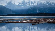 The Douglas Channel at dusk in Kitimat, B.C (DARRYL DYCK/THE CANADIAN PRESS)