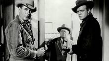 Glenn Ford, left, and Van Heflin, right, in Delmer Daves's 3:10 to Yuma (1957). (Picasa)
