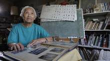 Eighty-eight-year old Linda Yasuko Morikouchi at her home in East Vancouver. Morikouchi, who still teaches Japanese, was headed back to Hiroshima from Manchuria when some Japanese soldiers told her about the dropping of nuclear bombs. (Lyle Stafford/Lyle Stafford for the Globe and Mail)