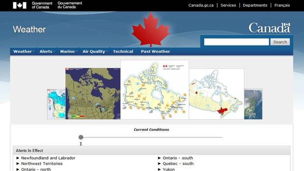 Government removes words 'Environment Canada' from popular ...