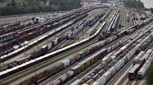 Double-digit growth in carloads are expected to drive up profit at Canadian National Railway. (Andy Clark/Reuters)