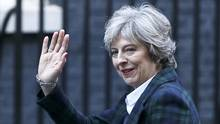 Britain's Prime Minister Theresa May returns to 10 Downing Street, London, on Jan. 17, 2017. (NEIL HALL/REUTERS)