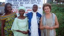Among her many efforts to help alleviate poverty in Africa, Fiona Eberts, right, served as head of the charity Camfed, which focuses on girls' education and helping women start businesses. (Courtesy of the Eberts family)