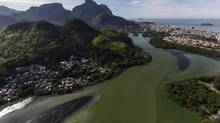 """The polluted Guanabara Bay in Rio De Janeiro, May 14, 2014. Guanabara Bay, the venue for the 2016 Summer Olympic Games, is so foul that a biologist called it """"a latrine"""" and a Brazilian sailor said he has encountered bodies. (ANA CAROLINA FERNANDES/NYT)"""