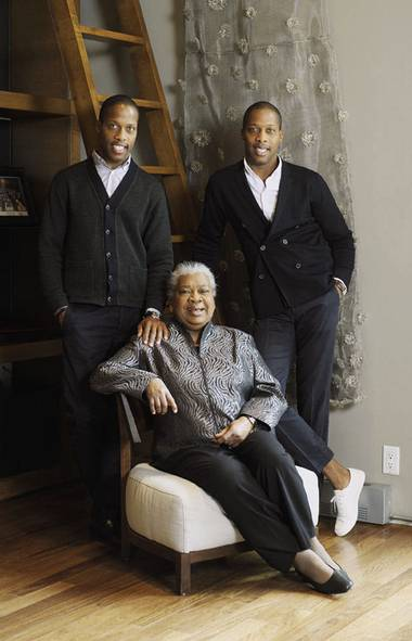 Jean, Byron and Dexter Peart Hair and makeup by Vanessa Jarman using Rimmel London and TRESemm é Hair Care for P1M.ca . (Matthew Tammaro for The Globe and Mail/Matthew Tammaro for The Globe and Mail)