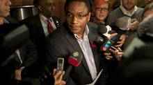 Toronto Councillor Michael Thompson, shown in 2013, is no longer pursuing legal action over a complaint against him by fellow members of the city's police board. (DEBORAH BAIC/THE GLOBE AND MAIL)