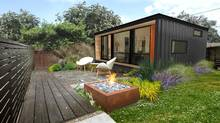 Rendering of a shipping container suite by Edmonton-based Honomobo. Honomobo homes range in size from just 200 square feet to 1,200 square feet and prices start from $99,000. (Honomobo)