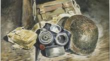 "Detail from ""Still Life Army Kit"" by Bruno Bobak: Bobak, who was Canada's youngest official war artist during the Second World War, has died in Fredericton. He was 88. (CP/Goose Lane)"