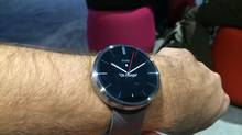 A look at Motorola's new Moto 360 smartwatch. (Peter Nowak for The Globe and Mail)
