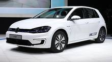 The 2017 Volkswagen e-Golf is unveiled in Los Angeles, California, U.S. November 17, 2016. (LUCY NICHOLSON/REUTERS)