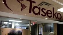 The offices of Taseko Mines in Vancouver in November, 2010. (Darryl Dyck/The Canadian Press)