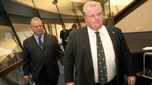 Doug Ford, left, and Rob Ford in November, 2010. (Tim Fraser for The Globe and Mail/Tim Fraser for The Globe and Mail)