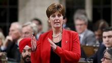 Canada's International Development Minister Marie-Claude Bibeau speaks in the House of Commons in Ottawa on Dec. 9, 2015. (CHRIS WATTIE/REUTERS)