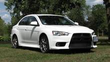 2013 Mitsubishi Lancer EVO MR. (Bob English for The Globe and Mail)