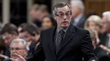 President of the Treasury Board Tony Clement responds to a question during Question Period in the House of Commons in Ottawa, Thursday, May 10, 2012. (Adrian Wyld/The Canadian Press/Adrian Wyld/The Canadian Press)