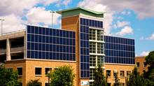 Solar panels on one of Sunnybrook's parking garages (Doug Nicholson)