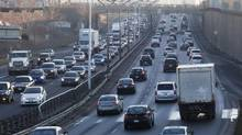 Toronto's Gardiner Expressway at rush hour. (Michelle Siu For The Globe and Mail)