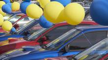 Balloons at a Car Lot (Ingram Publishing/THinkstock)