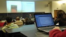 Students at York University make use of WiFi-enabled classrooms. (Fred Lum/Fred Lum/The Globe and Mail)
