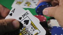 Playing cards and poker chips are seen in this file photo. (Dennis Hoyne/iStockphoto)