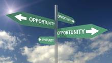 Opportunity Sign (Alex Slobodkin/Getty Images/iStockphoto)