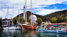 Our gulet ship is docked in Bozburun, a stunning coastal village in Turkey. (Barbara Ramsay Orr)