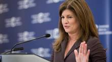 Health Minister Rona Ambrose speaks in Calgary on Aug. 19, 2013. (CHRIS BOLIN FOR THE GLOBE AND MAIL)